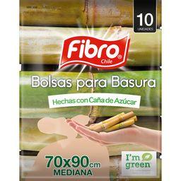 Fibro Bolsa Basura Caña Azucar 70X90 10U