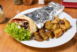 🌯 Big Wrap Vegetariano + Papas Rústicas
