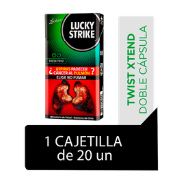 Lucky Strike Fresh Twist Cigarrillos Cajetilla 20Un