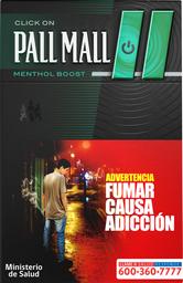 Cigarro Pall Mall Click On  Mentol Boost 20 U