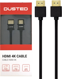 Cable HDMI Slim 1.8m 4K Dusted negro