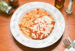 🍝Milanesa Napolitana y Spaghetti
