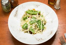 🍝Penne Rigati al Pesto con Tomate Cherry y Rúcula