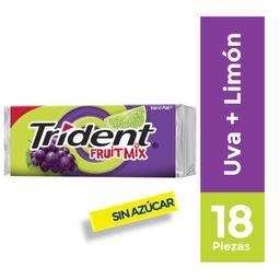 Chicle Trident Sin Azúcar Sabor Uva Limonada 18Un 30.6g