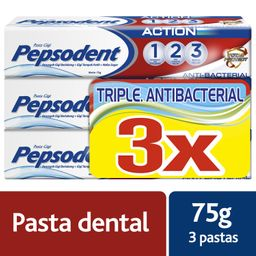 Pepsodent Pasta Dental Triple Antibacterial 75g