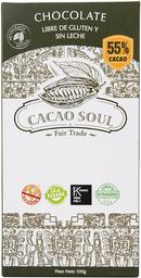 Barra De Chocolate 55% Cacao Organico 100 Grs