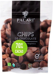 Chips De Chocolate 70% Cacao 200 Grs