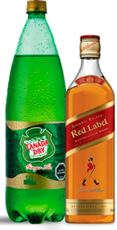 Johnnie Walker Red Label 750cc + Canada Dry Ginger Ale 1.5L