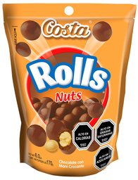 Chocolate Rolls Nuts Costa 170 g