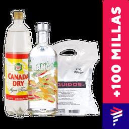 Absolut Mango 750ml + Agua Tónica 1.5L + Hielo de regalo