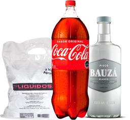 Promo Bauzá Blanco + Bebida 3L + Hielo 2kg de Regalo