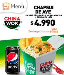 Rappi Lunch... Carne Mongoliana o Chapsui de AVE