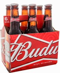 Cerveza Budweiser x6 Pack 355cc Botellín
