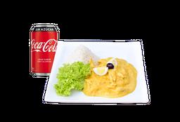 Ají de Gallina + Bebida 350cc