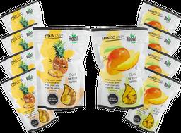 Pack 5 Real Chips Piña Y 5 Real Chips Mango