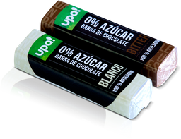 Barra De Chocolate Upa! Blanco 0% Azúcar 21g