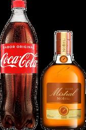 Pisco Mistral Nobel 0,75L + Coca 1,5L
