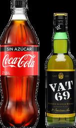 Whisky Vat 69 + Coca Cola 1.5L