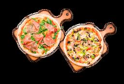2 Pizzas + 2 Bebidas