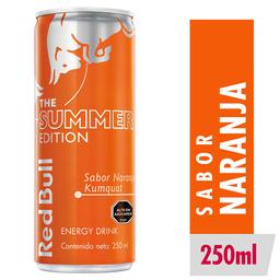 Red Bull Summer Naranja Bebida Energetica 250cc