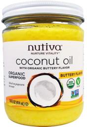 Nutiva Aceite de Coco Sabor Mantequilla Vegano