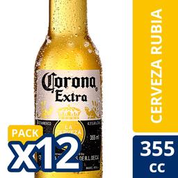Cerveza Corona 12-Pack 355 cc Botella