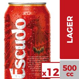 Cerveza Escudo 12-Pack 500 cc Lata