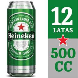 Cerveza Heineken 12-Pack 500 cc Lata