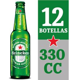 Cerveza Heineken 12-Pack 330cc Botella