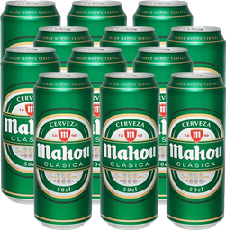 Cerveza Mahou 12-Pack 500cc Lata