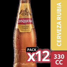 Cerveza Cusqueña 12-Pack 330cc Botella