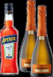 Aperol + 2x Espumante Undurraga Brut