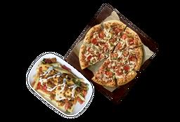 Pizza Familiar de 3 ingredientes + Papas Supremas Dobles