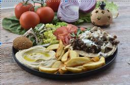 2 Shawarmas al Plato + 2 Papas Fritas + 2 bebidas ❄️