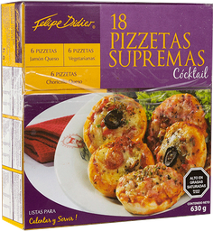 Pizzetas Supremas 18Un