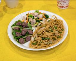 Carne Mongoliana con Chapsui de Pollo