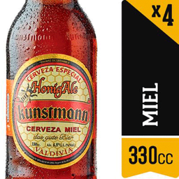 Cerveza Kunstmann Miel 4.8° 330cc X 4