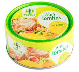 Atun Lomitos en Aceite 170g Tottus