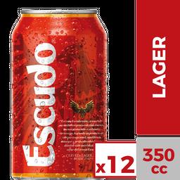 Pack 12x Cerveza Escudo 350ml