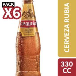 Cerveza Cusqueña 4.5° Gl 330cc Sixpack