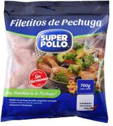 Filete Pechuga de Pollo Congelado 700g Super