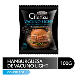 Hamburguesa Vacuno Light Crianza 100g