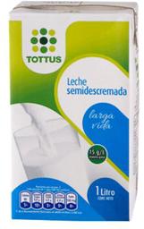 Leche Tottus Semidescremada 1L