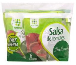 Pack 6 Salsas Tomate Italiana Tottus 200Gs