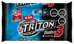 Pack Galletas Tritón Vainilla 3 Un