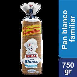 Pan Blanco Xl Ideal 750g