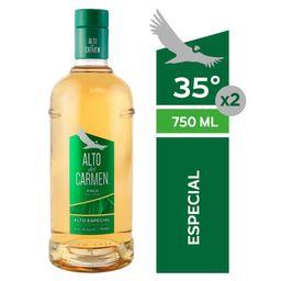 Pisco Alto del Carmen 35° Botella 750ml 2Un