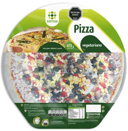 Pizza Vegetariana Tottus 470 g