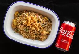 Arroz Chaufa (Pollo o Carne) + Bebida