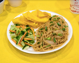 Buffet Vegetariano (Chapsui Verduras) con 3 Wantan
